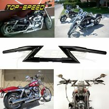 "1"" Z BARS CHOPPER bobber HANDLEBARS FOR HARLEY HONDA Clubman Grips TOP BLACK"