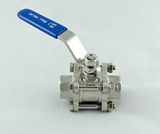 """Brewing/Homebrew 1/2"""" BSP 3-Piece Ball Valve Tap, Stainless Steel Threaded Pipe"""