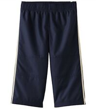 NWT Jumping Beans Baby Boys 12 Months Stripped Nylon Pants, Blue