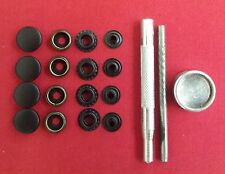 4 PRESS STUD REPLACE REPAIR KIT MEND IXS BMW RUKKA HEIN GERICKE Black Satin Face
