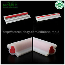Handmade Heart Shaped Silicone Soap Tube Molds,DIY Soap Tube Moulds,Heart Molds