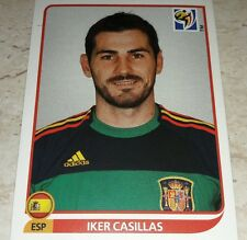 FIGURINA CALCIATORI PANINI SOUTH AFRICA 2010 SPAGNA CASILLAS ALBUM MONDIALI