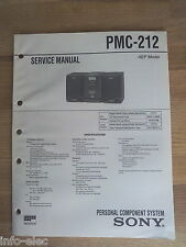 Schema SONY - Service Manual Personal Component System PMC-212 PMC212