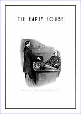 "Sherlock Holmes poster The empty house  11.7"" x 16.5"" by Sidney Paget"