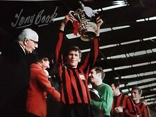 TONY BOOK - FORMER MANCHESTER CITY FOOTBALLER  - SIGNED WEMBLEY PHOTOGRAPH