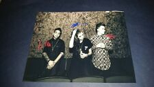 """PVRIS PP SIGNED 10""""X8"""" PHOTO REPRO ELECTRO PSYCHEDELIC ROCK POP"""
