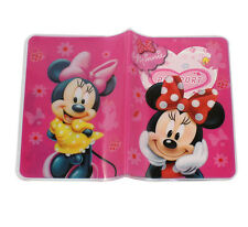 Cute Minnie Mouse Cartoon PVC Travel Passport Card Holder Pouch Case Cover