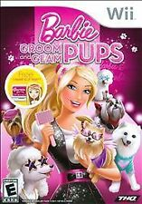 Wii BARBIE GROOM AND GLAM PUPS BRAND NEW GIRLS VIDEO GAME SHIP NEXT DAY