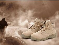 Men's Military Ankle Boot Tactical Combat Outdoor Desert Hiking Shoes Brown 9.5