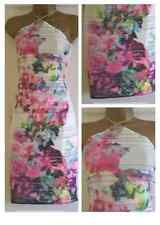 New Lipsy Dress Size 10 RRP £55 White Green Yellow Pink Party Holiday Beach