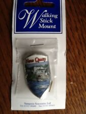 New Quay West Wales Walking Stick Mount with pins