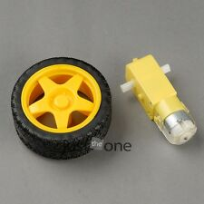 Removable Tyre Robot Wheel+ Motor DC 3V-8V Arduino Smart Car Auto with 1: 48 Set