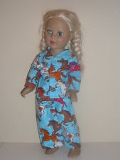 "Horses/Blue Pajamas for 18"" Doll Clothes American Girl"