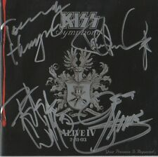 "KISS AUTOGRAFI SIGNED CD booklet ""Symphony: Alive"""