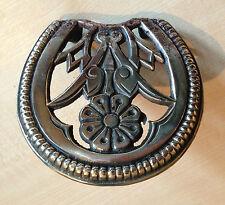 Antique Vintage Ornate Brass Fireplace Kettle Trivet Pan Stand Range (GR119)