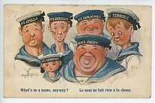 Funny Artist-Signed NAVY Cartoon Fat Skinny Men Women Military McGill WWII