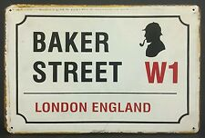 Baker Street London England Vintage Metal Sign Home Garage Workshop Pub Studio