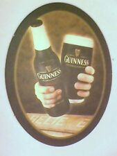 GUINNESS OVAL     - Beermat / Coaster  - 2 sided