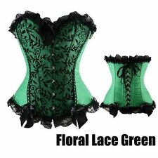 Hot Steampunk Corset Top Fancy Dress Bustier and Basques Rouge lingerie AE356