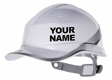 2X YOUR NAME Hard Hat vinyl decal. Warehouse sticker CHOOSE COLOUR & FONT