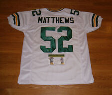 PACKERS Clay Matthews signed jersey w/ #52 COA HOLO AUTO Autographed Green Bay