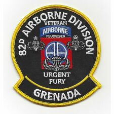 US ARMY 82ND AIRBORNE  Operation Urgent Fury  GRENADA Military Morale PATCH