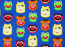 DISNEY EMOJILAND  MUPPET FRIENDS  KERMIT MISS PIGGY  100% COTTON FABRIC  YARDAGE