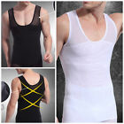 UK MENS BEST COMPRESSION GARMENT VEST TOP CHEST SHAPER GIRDLES FOR MAN BOOBS NEW