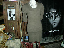 TRICOT JOLI Cool Sharp Cocoa Knitted Dress Size M