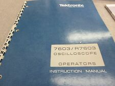 Tektronix 7603/R7603 Instruction Manual P/N 070-1310-00 3209E-2