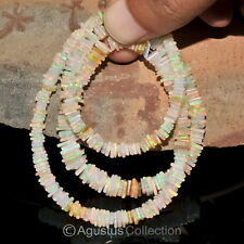 ETHIOPIAN WELO OPAL 17inch Strand Natural Gemstone Square Heishi Cube BEADS 74ct