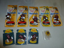 NEW ON CARD THE CALIFORNIA RAISINS LOT KEYCHAIN PINS APPLAUSE CALRAB VINTAGE NOC