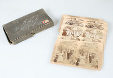 SET OF 18 STEREOVIEW PHOTOS ON A COUPLES COURTSHIP   MARRIAGE IN ORIGINAL BOX