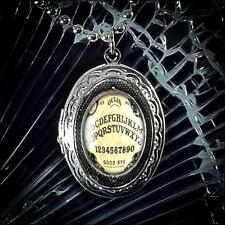 Traditional Ouija Board Glass Horror Occult Silver Halloween Locket Necklace