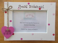 Personalised Wooden Bridesmaid Maid of Honour Photo Frame Gift QUICK POSTAGE