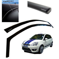 NEW FORD FIESTA ST MK6 2001-2008 AIR / WIND DEFLECTORS / RAIN GUARD - DARK SPORT