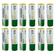 12 x AA 2A 3000 (Actual 300mAh) 1.2V Ni-MH Rechargeable Battery Cell BTY Green