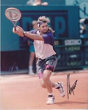 AUTOGRAPHED IN PERSON ANDRE AGASSI COLOR 8 X 10 PHOTO