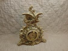 """Vintage Porcelain Pottery MINX Clock Made In Germany 10 1/2"""" tall"""