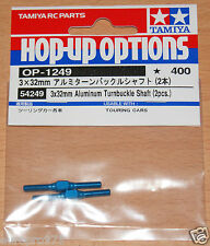 Tamiya 54249 3x32mm Aluminum Turnbuckle Shaft (2 Pcs.) (TA06/TB04/FF03), NIP