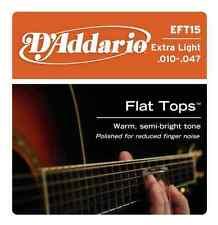 D'Addario EFT15 Set Acous Flat Top Pb X-Lite