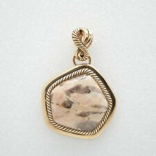 Barse Jewelry Feldspar Jasper and Bronze Pendant