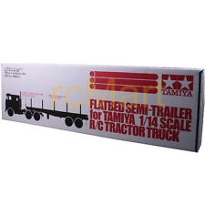 Tamiya 1:14 Tractor Trucks Flatbed- Semi- Trailer EP RC Car On Road #56306