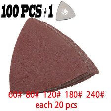 101 Pcs triangular Sanding paper  sandpaper Sand Sheet fit for Oscillating Tool