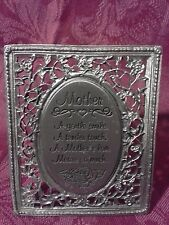 Cathedral Art MOTHER's Smile Touch Love Means Much Mother's Day Pewter Frame