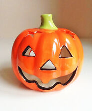 Halloween Ceramic Pumpkin Tea Light Holder - Brand New -Registered Fast Dispatch