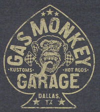 GAS MONKEY GARAGE T-shirt ACES HIGH Hot Rods Tee Adult SMALL Charcoal Gray New