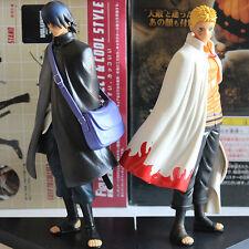 Set 2pcs Japan Anime Naruto Shippuden Uzumaki Naruto Uchiha Sasuke figure 15cm