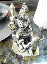MAA BAGLAMUKHI MURTI STATUE BRASS SCULPTURE INDIA 5 INCHES HIGH