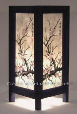 ASIAN ORIENTAL TABLE LAMP HOME / BEDROOM, NIGHTSTAND LIGHT *JAPANESE SAKURA TREE